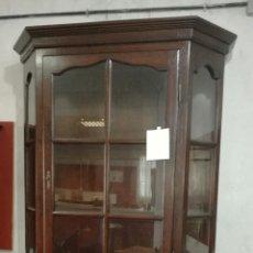 Antigüedades: VITRINA DE MADERA DE ROBLE MACIZO MUY BUENA EN BUEN ESTADO. L R. Lote 132352961