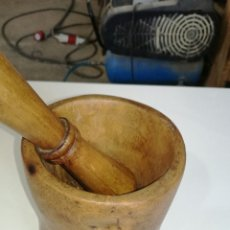 Antiquitäten - Mortero de madera muy bonito L R - 132354465