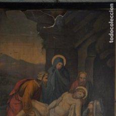 Antigüedades: CUADRO SEPULTURA DE CRISTO CON MARÍA, MARÍA MAGDALENA, JUAN Y JOSÉ DE ARIMATEA. Lote 132360422
