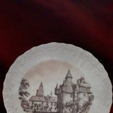 Antigüedades: PLATO DECORATIVO: CHATEAU DE LA SAUCERIE 1780. Lote 132392766