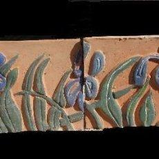 Antigüedades: FRISO RELIEVE DE 3 CERÀMICAS. Lote 132401038