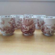 Antigüedades: SEIS TAZAS DE CAFE VILLEROY BOCH WALLERFANGEN S XIX. Lote 132408083