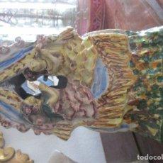 Antigüedades: CARRETA DEL ROCIO CERAMICA DE TRIANA. Lote 132426362