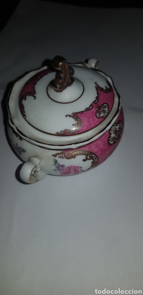 Antigüedades: Azucarero de porcelana elyca - Foto 2 - 132426591