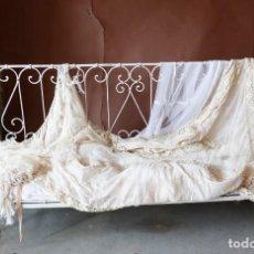 Antigüedades: CUNA PLEGABLE HIERRO FORJADO . PPOS SIGLO XX. PRECIOSA PATINA. Lote 132430502