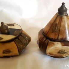 Antigüedades: 2 PRECIOSOS PASTILLEROS. Lote 132460678