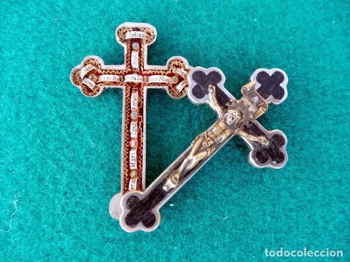 RELICARIO EN METAL, MADERA Y BRONCE (Antigüedades - Religiosas - Relicarios y Custodias)
