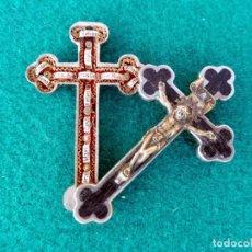 Antigüedades: RELICARIO EN METAL, MADERA Y BRONCE. Lote 132462082
