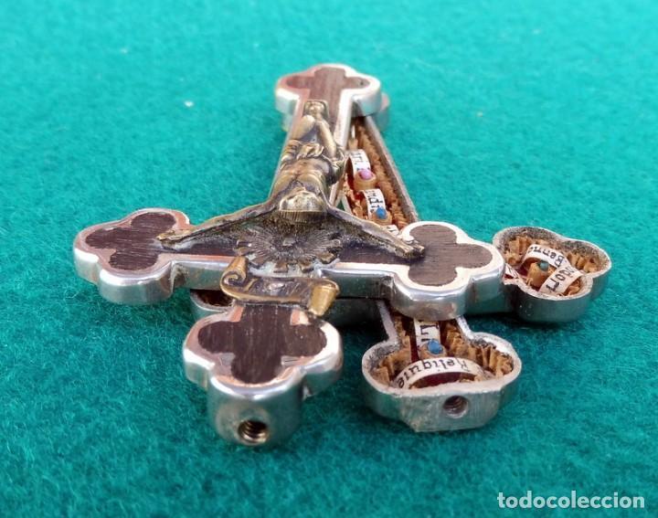 Antigüedades: RELICARIO EN METAL, MADERA Y BRONCE - Foto 9 - 132462082