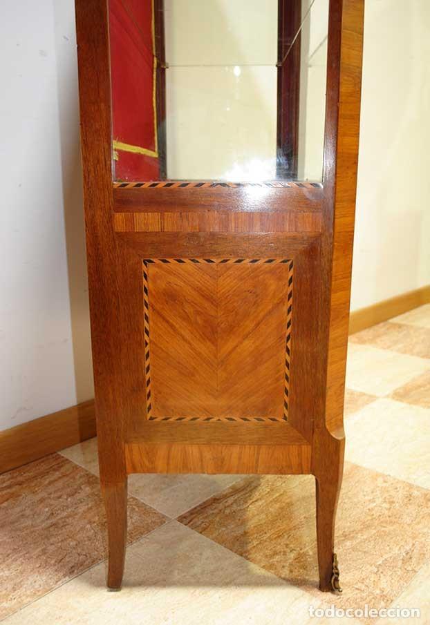 Antigüedades: ANTIGUA VITRINA ESTILO LUIS XVI CON MARQUETERÍA - Foto 9 - 132462510