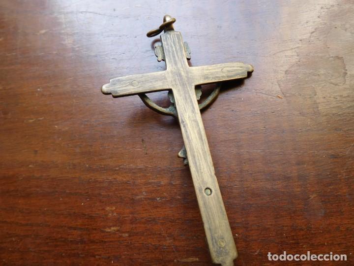 Antigüedades: Crucifijo de bronce siglo XVIII - Foto 6 - 132478346