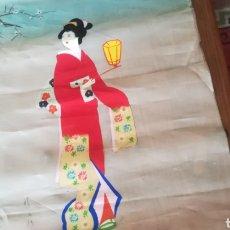 Antigüedades: ANTIGUA PINTURA CHINA SOBRE SEDA. Lote 132494842