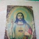 Antigüedades: PLACA DE PUERTA SAGRADO CORAZÓN DE JESÚS. Lote 132498653