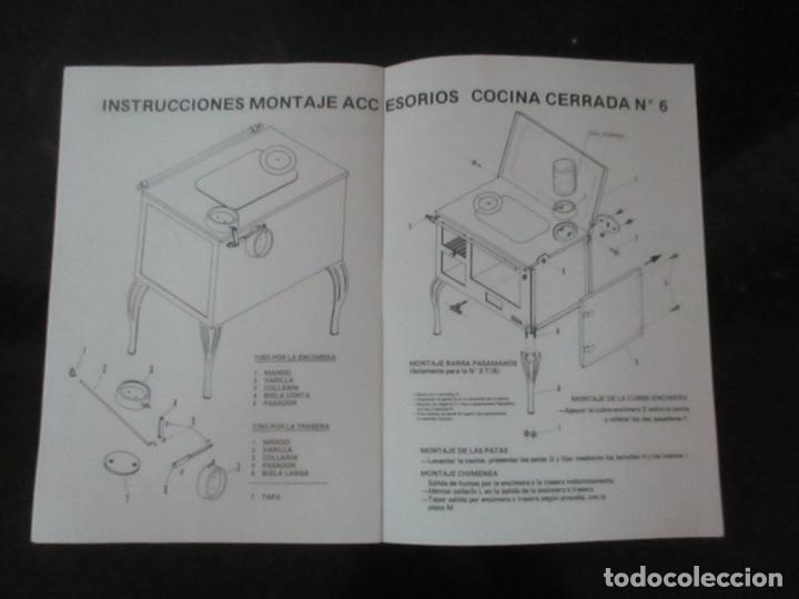 Antigüedades: Antigua Cocina Económica - Marca Hergo - con Catalogo - Foto 28 - 155192248