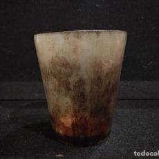 Antigüedades: ANTIGUO VASO DE ASTA Y MARFIL . Lote 132508634