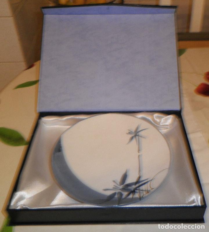 Antigüedades: plato porcelana japonesa Kamura con su estuche de los años 60 - Foto 2 - 132520434