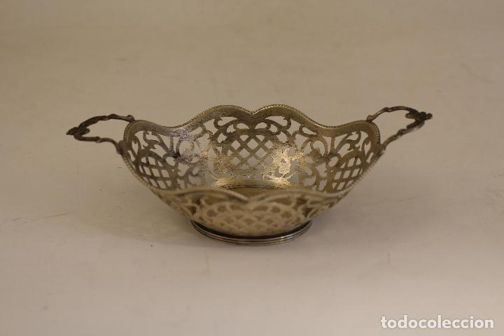 Antigüedades: frutero bandeja en plata maciza de ley 925milesimas - Foto 2 - 135379285