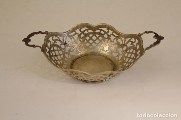 Antigüedades: frutero bandeja en plata maciza de ley 925milesimas - Foto 3 - 135379285
