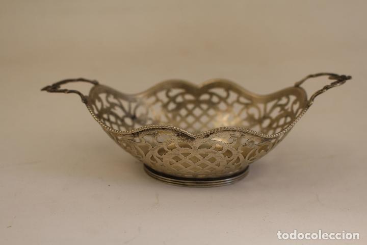 Antigüedades: frutero bandeja en plata maciza de ley 925milesimas - Foto 4 - 135379285