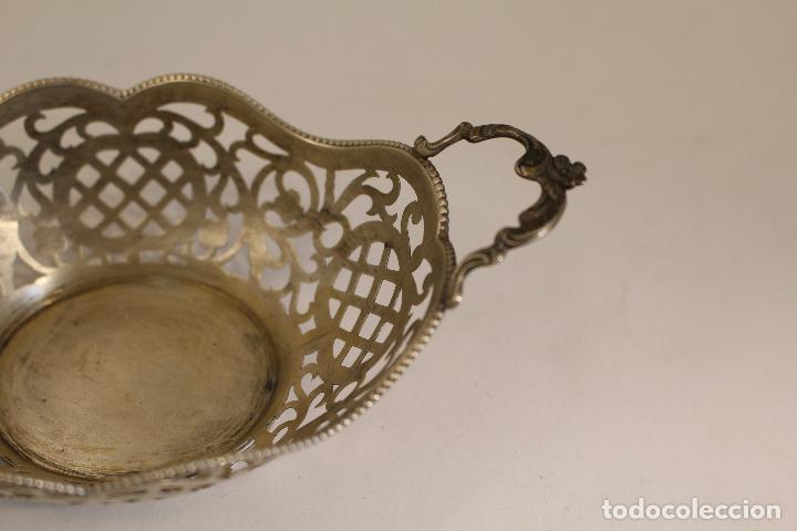 Antigüedades: frutero bandeja en plata maciza de ley 925milesimas - Foto 6 - 135379285
