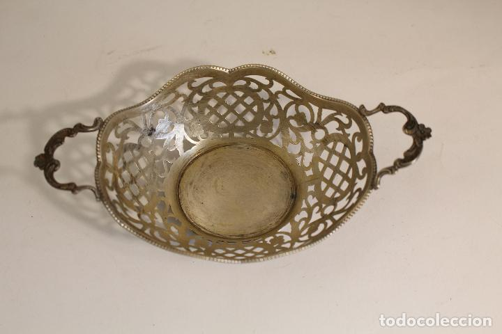 Antigüedades: frutero bandeja en plata maciza de ley 925milesimas - Foto 7 - 135379285