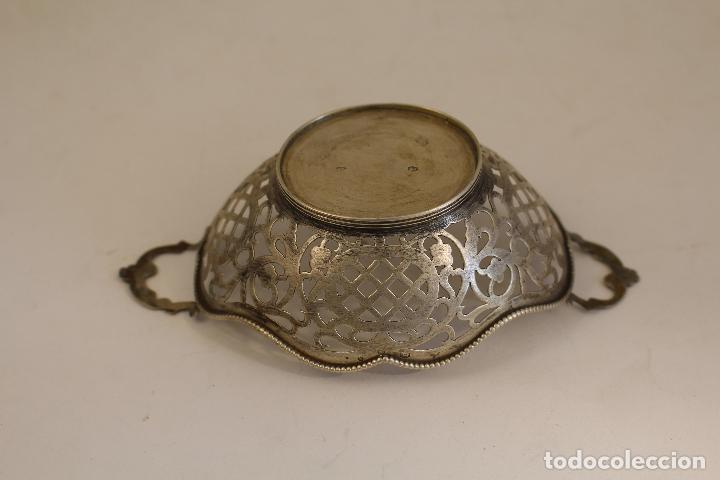 Antigüedades: frutero bandeja en plata maciza de ley 925milesimas - Foto 8 - 135379285