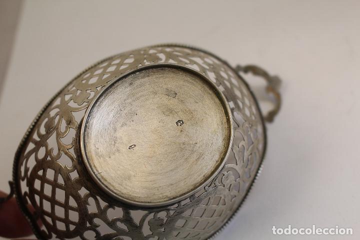 Antigüedades: frutero bandeja en plata maciza de ley 925milesimas - Foto 9 - 135379285