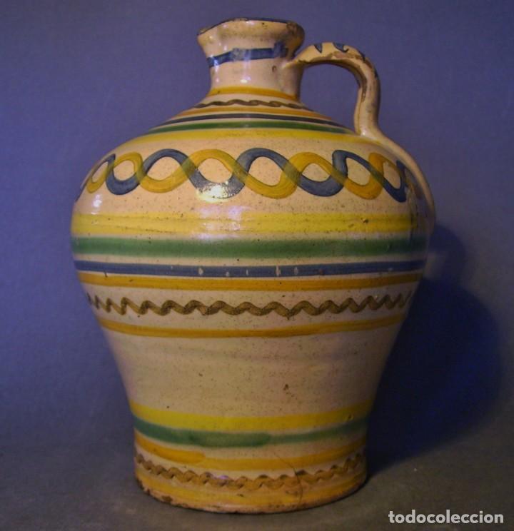 ROTUNDA ALCUZA CERÁMICA DE PUENTE DEL ARZOBISPO XIX (Antigüedades - Porcelanas y Cerámicas - Puente del Arzobispo )