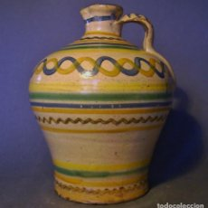 Antigüedades: ROTUNDA ALCUZA CERÁMICA DE PUENTE DEL ARZOBISPO XIX . Lote 132533566