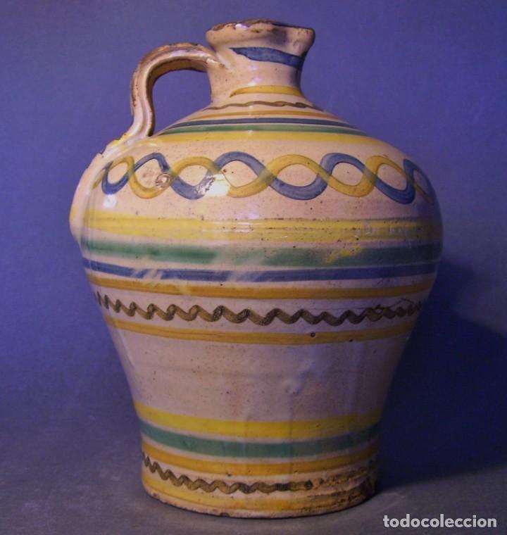 Antigüedades: ROTUNDA ALCUZA CERÁMICA DE PUENTE DEL ARZOBISPO XIX - Foto 2 - 132533566