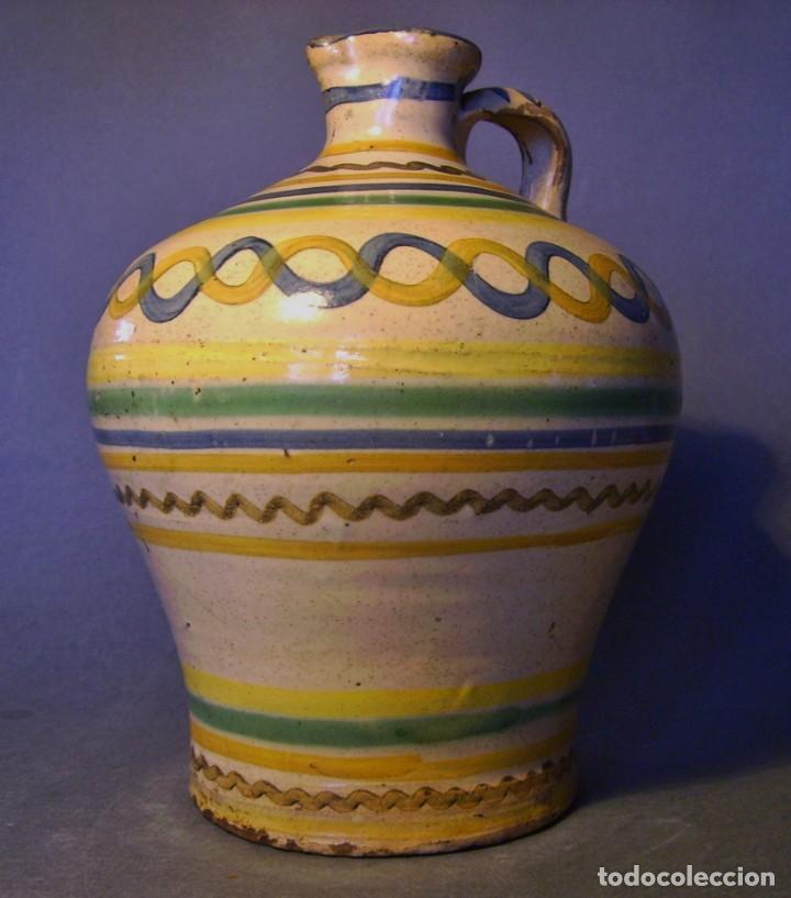 Antigüedades: ROTUNDA ALCUZA CERÁMICA DE PUENTE DEL ARZOBISPO XIX - Foto 4 - 132533566