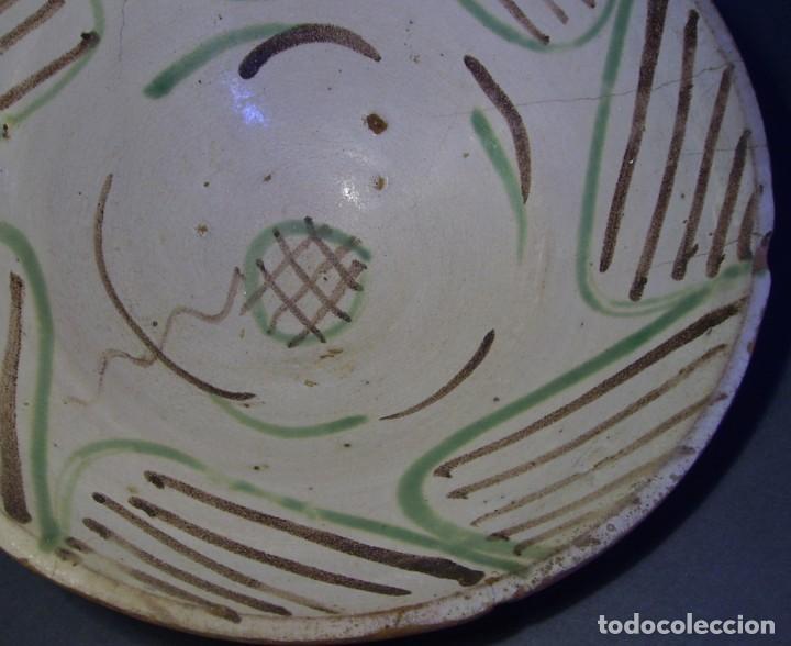 Antigüedades: GRAN Y ROTUNDO PLATO-CUENCO DE CERÁMICA ARAGONESA DE TERUEL XIX - Foto 3 - 132533730
