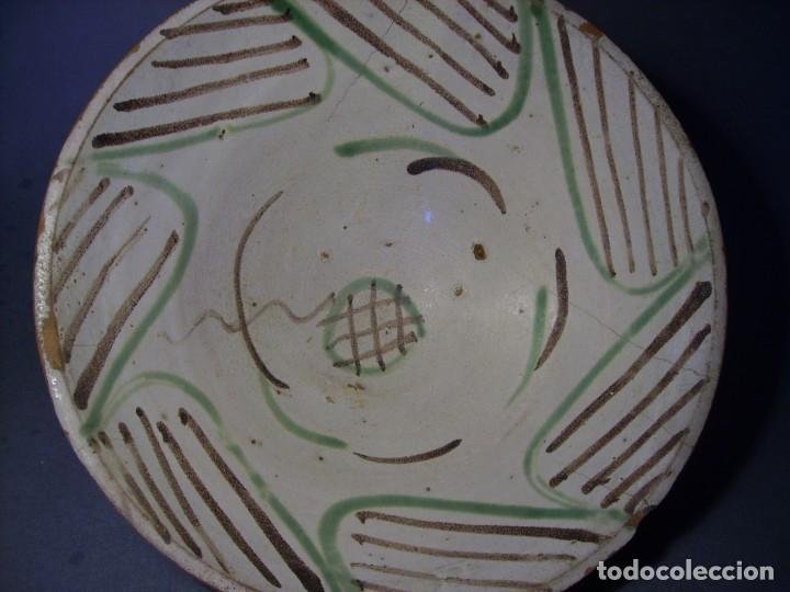 Antigüedades: GRAN Y ROTUNDO PLATO-CUENCO DE CERÁMICA ARAGONESA DE TERUEL XIX - Foto 6 - 132533730