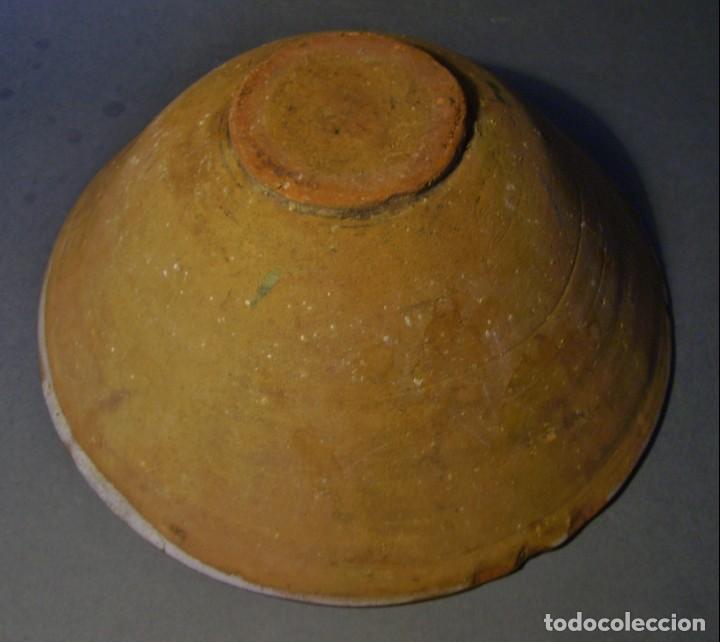 Antigüedades: GRAN Y ROTUNDO PLATO-CUENCO DE CERÁMICA ARAGONESA DE TERUEL XIX - Foto 15 - 132533730