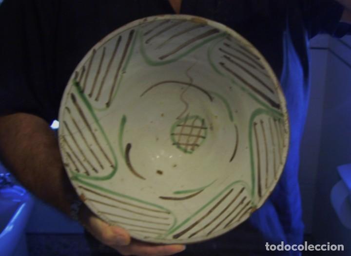 Antigüedades: GRAN Y ROTUNDO PLATO-CUENCO DE CERÁMICA ARAGONESA DE TERUEL XIX - Foto 16 - 132533730