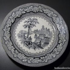 Antigüedades - PLATO LLANO PORCELANA DE SARGADELOS (VISTAS 3ª ÉPOCA 1845 – 1862) - 132534710