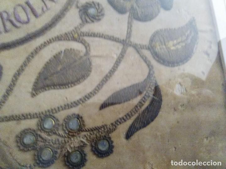 BORDADO EN CORDÓN ORO Y PEDRERÍA 1840-1860 (Antigüedades - Hogar y Decoración - Cajas Antiguas)