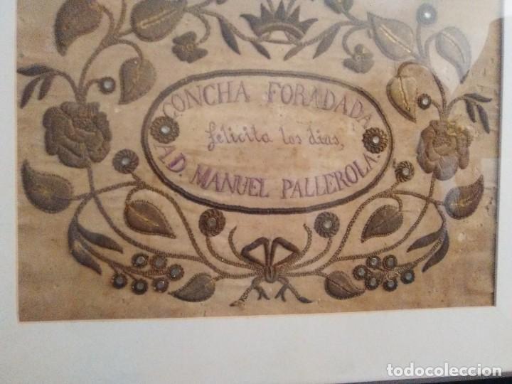 Antigüedades: Bordado en cordón oro y pedrería 1840-1860 - Foto 2 - 132555314