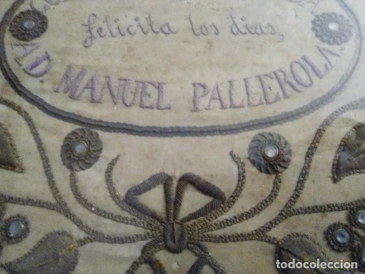 Antigüedades: Bordado en cordón oro y pedrería 1840-1860 - Foto 3 - 132555314