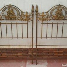 Antigüedades: EXCEPCIONALES Y ANTIGUOS 2 CABECEROS DE CAMA ÉPOCA ISABELINA 1900S-1950S. Lote 110988539
