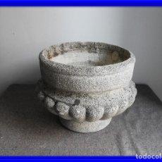 Antigüedades: MACETERO DE PIEDRA O JARDINERA. 12 KG.. Lote 132574686