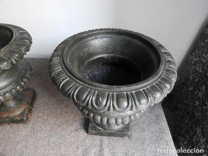 Antiquitäten: BONITA PAREJA DE COPAS DE HIERRO ANTIGUAS - Foto 6 - 132578346