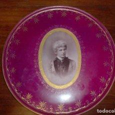Antigüedades: PLATO CON FOTO GRABADA. AÑO 1900-1905. Lote 132586642
