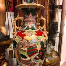 Antigüedades: PRECIOSO Y ANTIGUO JARRON CERAMICO JAPONES DE SATSUMA - MEDIDA 39 CM. Lote 132600310