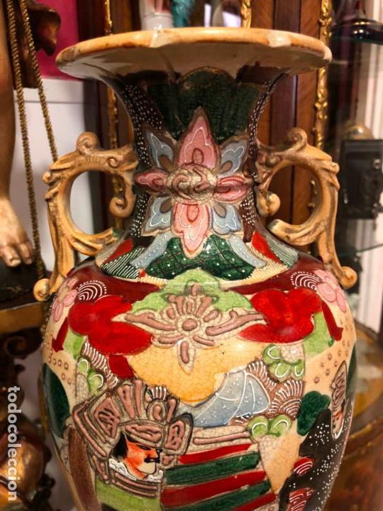 Antigüedades: PRECIOSO Y ANTIGUO JARRON CERAMICO JAPONES DE SATSUMA - MEDIDA 39 CM - Foto 2 - 132600310