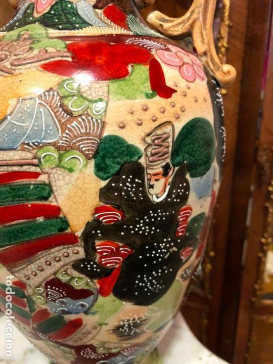 Antigüedades: PRECIOSO Y ANTIGUO JARRON CERAMICO JAPONES DE SATSUMA - MEDIDA 39 CM - Foto 7 - 132600310