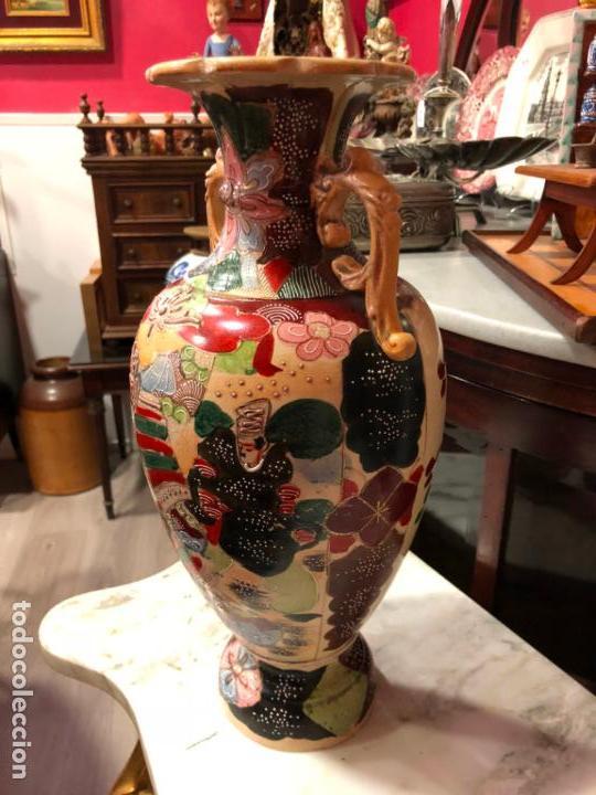 Antigüedades: PRECIOSO Y ANTIGUO JARRON CERAMICO JAPONES DE SATSUMA - MEDIDA 39 CM - Foto 10 - 132600310
