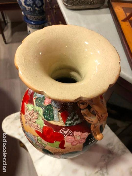 Antigüedades: PRECIOSO Y ANTIGUO JARRON CERAMICO JAPONES DE SATSUMA - MEDIDA 39 CM - Foto 11 - 132600310