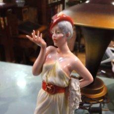 Antiques - Figura dama porcelana Galos - 132604183