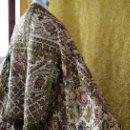 Antigüedades: ESPECTACULAR CAPA PLUVIAL DAMASCO DE SEDA SOBRE LINO O CAÑAMO?¿ MUY ANTIGUO. PROBABLE S XVI-XVII. Lote 132607498